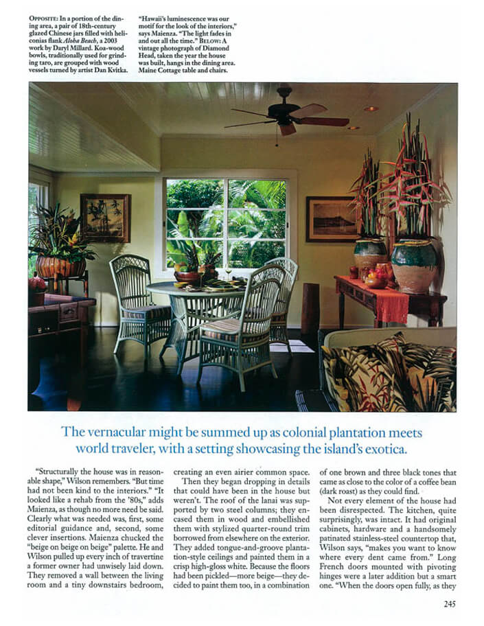 Architectural Digest Honolulu Hideaway